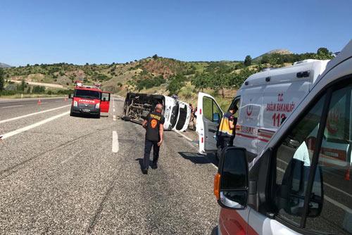 Sınav yolunda kaza, 9 yaralı!