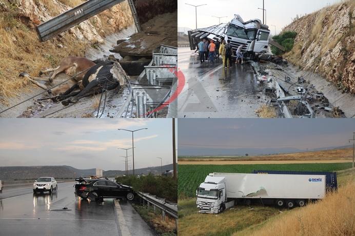 300 metrede 3 ayrı trafik kazası