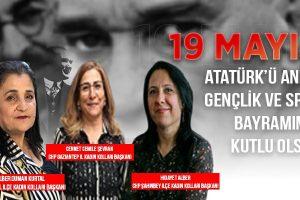 CHP Gaziantep Kadın Kollarından 19 Mayıs Mesajı