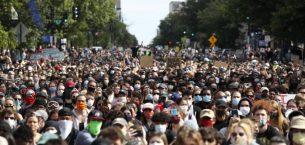 ABD Protestoların Sekizinci Gününde Yine Sokakta