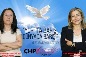 CHP Kadın Kollarından 1 Eylül Dünya Barış Günü mesajı