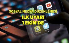 Sosyal medya düzenlemesi 1 Ekim tarihinde başlıyor