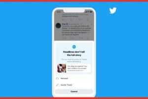 Twitter, haberi okumadan retweet edenleri uyarmaya başladı