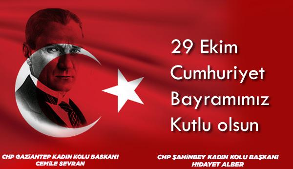 """CHP Gaziantep Kadın Kolları: """"Her zamankinden daha çok Cumhuriyete muhtacız"""""""