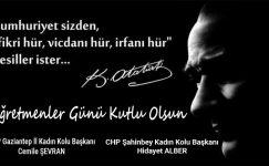 CHP Gaziantep Kadın Kolları: Salgının yükünü omuzlayan öğretmenlerimize minnettarız