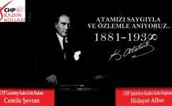 CHP Gaziantep Kadın Kolları'ndan 10 Kasım mesajı