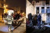 Suriyeli ailenin kaldığı ev çöktü, yaralılar var