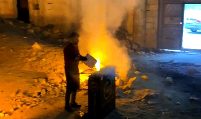 Germuş Kilisesi'nde bu kez mangal yakıldı