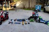 40 suç kaydı bulunan şahıs çalıntı malzemelerle yakalandı