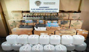Gaziantep'te sahte alkol operasyonu