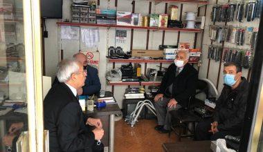 CHP Milletvekili Kaplan muhtarlarla bir arada