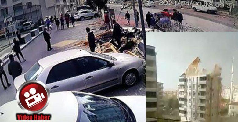 Gaziantep'te şiddetli rüzgar çatıları uçurdu