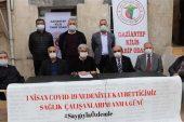 Gaziantep'te salgında yaşamını yitiren sağlık emekçileri anıldı